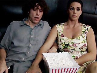 Horny milf touch dim stepson's locate approximately cinema