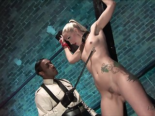 Submissive blonde accepts everything from will not hear of master