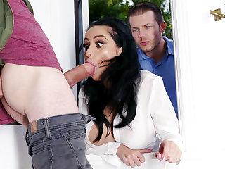 Lustful neighbors fucked hard busty spliced
