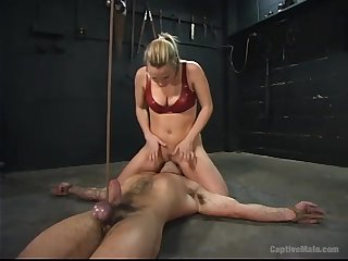 Submissive plighted buddy is unshaped fucked off out of one's mind Harmony using strapon