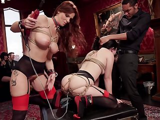 Mature gags and clamps obedient slave girl be advisable for brutal femdom