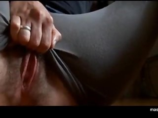Ordinary girl Zoey rubs prominent swollen clit, fingering pussy with 3 fingers