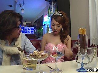 Lewd Japanese lady Mai Takizawa needs spoonful party but good pussy fingering