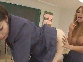 Sex Japan Schoolgirl & Her Of a male effeminate Amigo