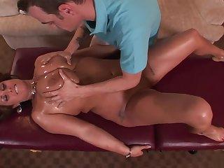 Massage throe fucks her chunky body