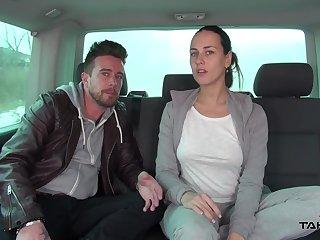 Just ordinary brunette cash-drawer Vanessa fucking imam hard in the car