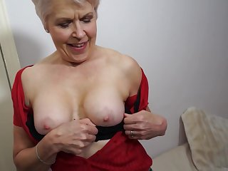 British mature woman is masturbating in front be useful to the camera, because it excites say no to a lot