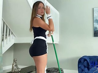 Mexican maid, Havana Bleu is regularly having fuck-a-thon there her employer, because he always makes her jizz