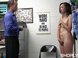 Amateur skirt Madi Lainge gets fucked apart from a white security guard