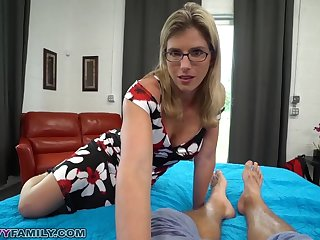 Slutty Mom Cory Chase Gives Step Laddie a Helping Do without and Pussy