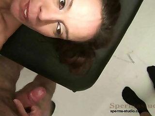 Kinky Brunette Fucks Lots Of Dicks P1-P3